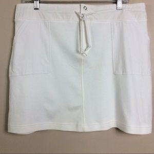 Nike White Cotton Activewear Skirt Sz Large